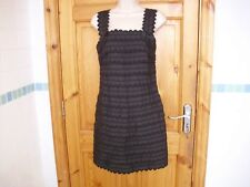 FRENCH CONNECTION Womens pretty special occasion black textured dress size 6UK a