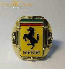Men's Ferrari Badge Ring cast in Jewellers Bronze 21g Any Size