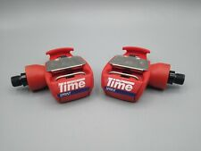 """TIME Sprint Pedals / Red / Made in France / 9/16"""" Excellent Condition"""