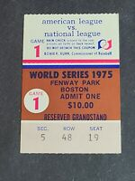 1975 World Series Ticket Stub Game 1 Boston Red Sox Cincinnati Reds Classic