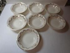 lot 7 Edwin M Knowles Adams Gold Swag 5 3/8in Dessert Bowls 44-2 Semi Vitreous
