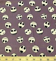 """Nightmare Before Christmas Cotton Fabric Remnant 22""""x44"""" NBC Blender"""