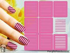 Nail Art Decal Stencil Stickers Line Stencils Adhesive Stripes L107