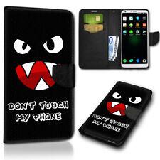 Smartphone abatible, móvil bolsa new-216 (Don 't Touch My Phone monstruo 2) cubierta protectora
