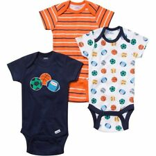 NWT Gerber Baby Boy Newborn Onesies Bodysuits Sports 3 Pack 3pk NB Lot