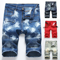 Men denim shorts Mens Short Jeans Desrtoyed Pant Short Pants Jean Pant Frayed