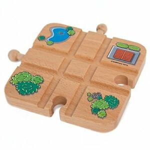 Orbrium Wooden Cross Track Wooden Train Track Set Car Railway Thomas Chuggington