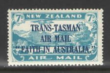 "New Zealand EFO Sc C5 7d Air Mail Broken ""N"" Variety XF UMM MNH"