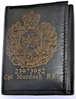 ROYAL ENGINEERS ARMY PERSONALISED GIFT WALLET ENGRAVED WITH ANY NAME & NUMBER