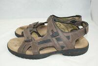 Khombu Men's Size 12 Brown Black Ankle Adjustable Strap Comfort Casual Sandals