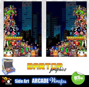 Retrocade Bartop Arcade Artwork Sides Overlay Graphic Stickers