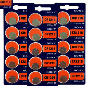 15 x SONY Lithium CR1216 batteries Coin Cell 3V DL1216 KRC1216 Watch