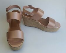 Steve Madden Shoes Sandals Espadrilles Wedge Blush Marian Womens Size 9.5