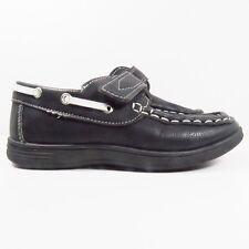 Josmo Boat Shoes In Black/White Size 9 (Toddler)
