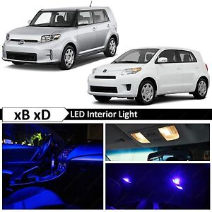 8x Blue LED Interior Lights Package Kit for 2008 - 2015 Scion xB xD