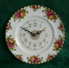 Old Country Roses - Royal Albert - Plate Wall Clock