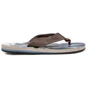 ONEILL Mens Arch Flip Flops Sandals Tan Brown