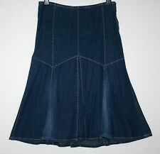 *WALLIS* DENIM FADED LOOK GODET SKIRT SIZE 12