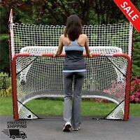 FOLDING HOCKEY GOAL Regulation Size With Backstop 72 x 42 Inch Pro Style Game