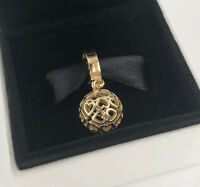 New Genuine PANDORA Harmonious Hearts Hanging Charm 14K Gold Vermeil 797255