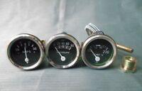 Ford 2N, 8N, 9N, NAA, 601, 70,801,901,2000,4000 Gauge Kit- Temp, Oil Pr ,Ampere