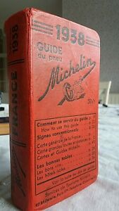 Guide MICHELIN rouge FRANCE 1938 :  Livre ancien en bon état