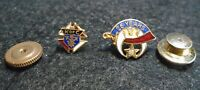 Shriner's Omar 25 year pin and K of C Knights of Columbus enamel lapel pin