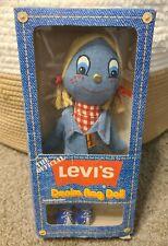 1973 Vintage Levi's Official Denim Rag Doll, Knickerbocker In Box