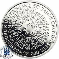 BRD 10 DM 50 Jahre Grundgesetz 1999 Silber Spiegelglanz Münze in Münzkapsel