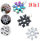 18in1 Multi Tool Portable Stainless Steel Snowflake Shape Key Chain Screwdriver