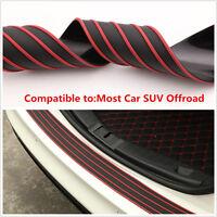 Universal Bumper Sill//Protector Guard Pad Car Offroad Rear Trunk Guard Red/&Black