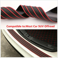 Car Rear Bumper Protector Trunk Moulding Trim Sill Plate Guard Scratch Guard Pas