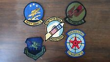 used military squadron patches,  lot of 5, various years