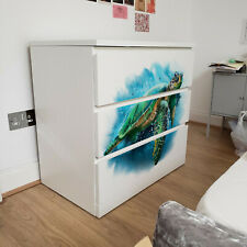 IKEA 3 DRAWERS MALM Turtle Paint Removable Textile Sticker for furniture