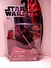 2012 Hasbro Star Wars Movie Heroes Darth Maul w/ Spinning Lightsaber Action MH05