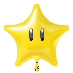 NINTENDO MARIO BROS SUPER STAR FOIL BALLOON GAME THEMED PARTY!