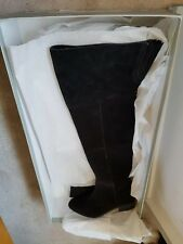 Carvela, Kurt Geiger, Over the knee Black Suede Ladies Boots, size4/37, new