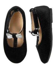 NWT GYMBOREE Fancy and Fun Black Flats Dress Shoes Girl Toddler 5,7,8,9