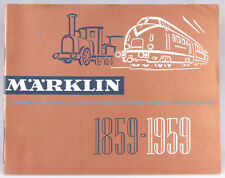 Märklin 1959 100th Anniversary Catalog, English Text With US $ Prices