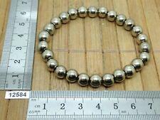 Bracelet PYRITE perles 6mm - importation USA - pierre naturelle reiki strech