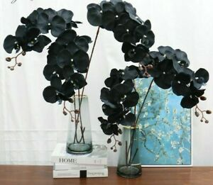 Orchid Silk Artificial Flower Phalaenopsis Home Decor Garden Potted Fake Plants