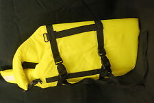Life Jacket Dog Preserver Med 20 - 40 lbs Pooch Vibrant Neon Yellow Lazy Pet