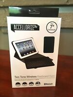 New Accellorize Bluetooth Wireless Keyboard Folio. Black. New In Box.