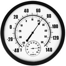 AU LARGE OUTSIDE THERMOMETER WALL GARDEN PATIO OUTDOOR INDOOR GREENHOUSE