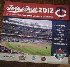 2012 TWINSFEST Tri-Fold Program
