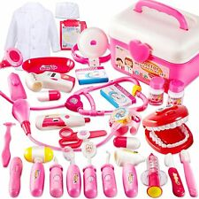 Arztkoffer Arztkittel Rollenspiel 35 Teile Kinderspielzeug Stethoskop  B-WARE