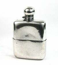 Early 20th C. Asprey Silver Plated Hip Flask Mushroom Cap EPBM c.1905-20