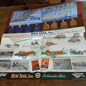 New Idea Coldwater Ohio Farm Equipment WWII era Patriotic Large Brochure Farming