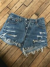cut off high waisted jean shorts levis W29