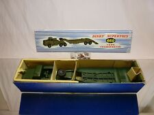 DINKY TOYS 660 TANK TRANSPORTER THORNYCROFT MIGHTY ANTAR - EXCELLENT IN BOX
